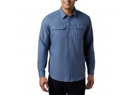 Silver Ridge Erkek Mavi Uzun Kollu Gömlek