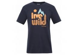 Live Wild SS Erkek Lacivert Tişört