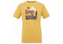 Live Wild SS Erkek Sarı Tişört