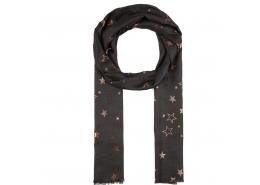 Yıldız Desenli Kadın Siyah Şal (196869-900)