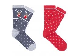 Yılbaşı Temalı 2li Kadın Soket Çorap