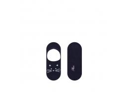 Kedi Desenli Kadın Babet Çorabı (197215-900)