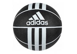 X 3 Bantlı Kauçuk Siyah Basketbol Topu