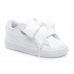 Basket Heart Patent Inf Bebek Beyaz Spor Ayakkabı
