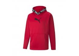 PwrFleece Erkek Kırmızı Kapüşonlu Sweatshirt (520893-11)