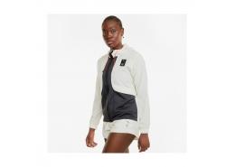 Train First Mile Kadın Beyaz Fermuarlı Sweatshirt (520995-73)