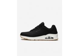 Uno - Stand On Air Erkek Siyah Sneaker (52458 BLK)
