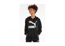 Classics Logo Kadın Siyah Kapüşonlu Sweatshirt (530075-71)