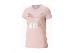 Puma Classics Logo Kadın Pembe Tişört (530077-36)