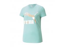 Puma Classics Logo Kadın Mavi Tişört (530077-76)