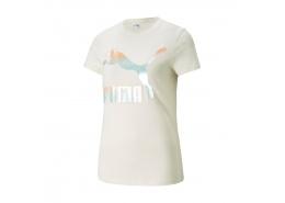 Puma Classics Logo Kadın Beyaz Tişört (530077-88)