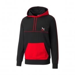 CLSX Piped Erkek Siyah Kapüşonlu Sweatshirt (531705-01)