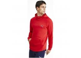 Evostripe Erkek Kırmızı Kapşonlu Sweatshirt
