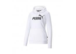 Essentials Logo Kadın Beyaz Kapüşonlu Sweatshirt (586791-02)