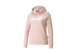 Puma Essentials Logo Kadın Pembe Kapüşonlu Sweatshirt (586797-36)