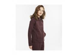 Evostripe Full-Zip Kadın Bordo Kapüşonlu Sweatshirt (589157-21)