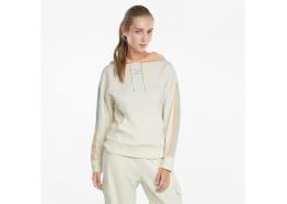 CLSX Kadın Krem Kapüşonlu Sweatshirt (589768-88)