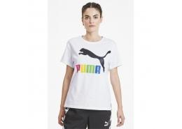 Classics Siyah Puma Logolu Kadın Beyaz Tişört