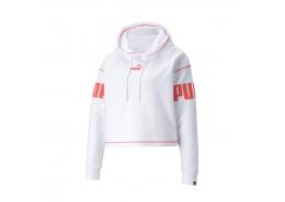 Power Kadın Beyaz Kapüşonlu Sweatshirt (855937-02)
