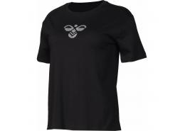 Poppy Kadın Siyah Spor Tişört