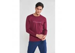 Melamous Erkek Bordo Sweatshirt