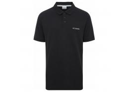 Cascade Range Solid Erkek Polo Yaka Siyah Tişört