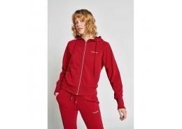Brigi Kadın Kırmızı Fermuarlı Sweatshirt