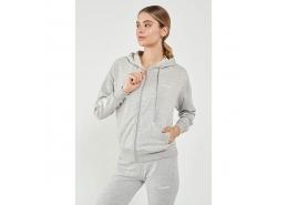 Mossa Kadın Gri Fermuarlı Sweatshirt (921171-2010)