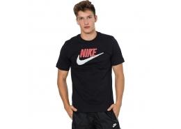 Sportswear Brand Mark Erkek Siyah Tişört