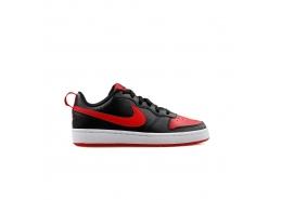 Court Borough Low 2 Kadın Siyah Kırmızı Spor Ayakkabı