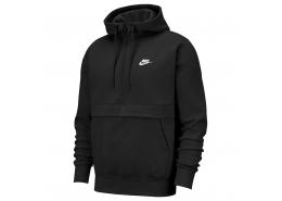 Sportswear Club Fleece Yarım Fermuarlı Erkek Siyah Sweatshirt