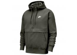 Sportswear Club Fleece Yarım Fermuarlı Erkek Yeşil Sweatshirt