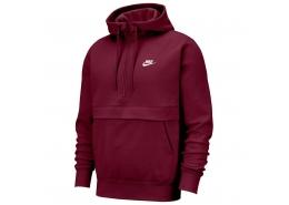 Sportswear Club Fleece Yarım Fermuarlı Erkek Kırmızı Sweatshirt