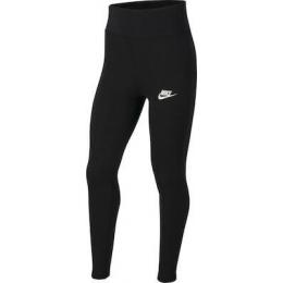 Sportswear Yüksek Belli Çocuk Siyah Tayt