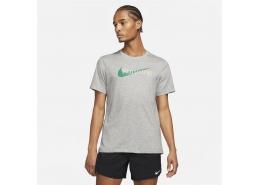 Nike Dri-FIT Erkek Koyu Gri Koşu Tişörtü (CW0945-063)