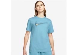 Nike Sportswear Swoosh Erkek Mavi Tişört (DB6470-424)