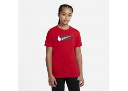 Sportswear Swoosh Çocuk Kırmızı Tişört (DC7796-657)