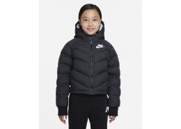Sportswear Sentetik Dolgulu Kapüşonlu Çocuk Siyah Mont (DD7134-010)