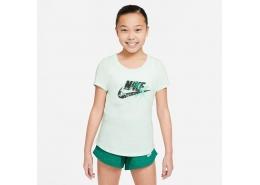 Sportswear Scoop Futura Çocuk Yeşil Tişört (DH5865-394)