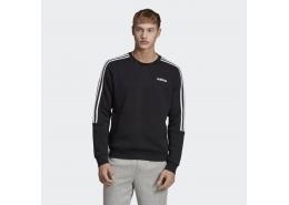 3 Bantlı Crew Erkek Siyah Sweatshirt