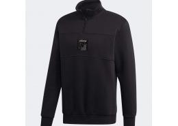 Sprt Icon Quarter-Zip Erkek Siyah Sweatshirt