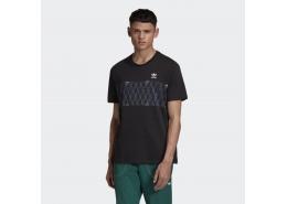 Monogram Erkek Siyah Günlük Tişört