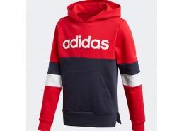 Linear Colorblock Fleece Çocuk Kırmızı Sweatshirt