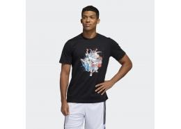 United Geek Up Erkek Siyah Basketbol Tişört