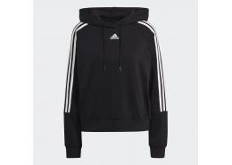 Essentials Loose-Cut 3 Bantlı Kadın Siyah Sweatshirt (GL1460)