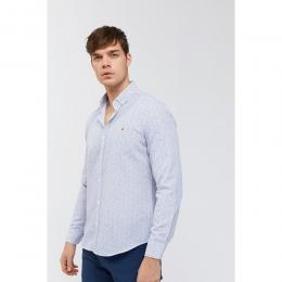 Avva Baskılı Düğmeli Yaka Slim Fit Erkek Gömlek (A91S2005-05)