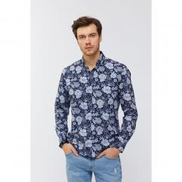 Baskılı Düğmeli Yaka Slim Fit Erkek Gömlek (A91Y2015-11)
