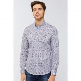 Baskılı Düğmeli Yaka Slim Fit Erkek Gömlek (A91Y2040-02)