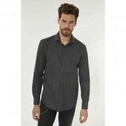 Baskılı Klasik Yaka Slim Fit Erkek Gömlek (A92S2233-44)