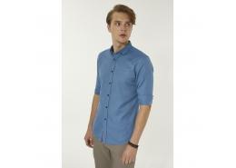Oxford Düğmeli Yaka Slim Fit Erkek Gömlek (A92S2286-101)
